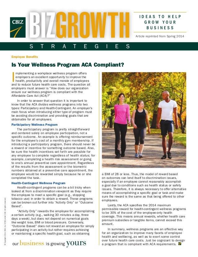Is Your Wellness Program ACA Compliant?