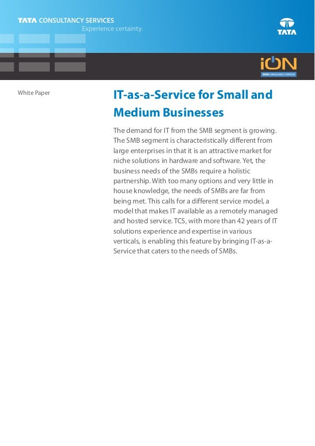 IT-As-A-Service-IT For Small And Medium Business