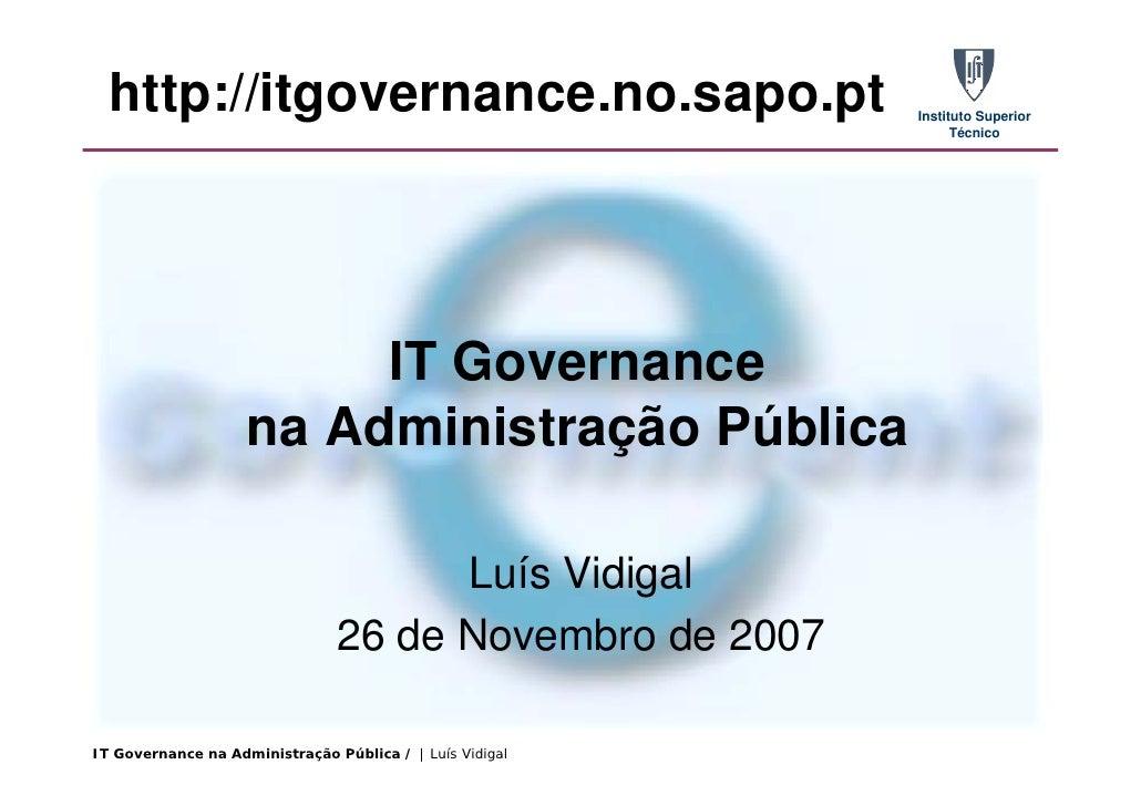 http://itgovernance.no.sapo.pt                          Instituto Superior                                                ...