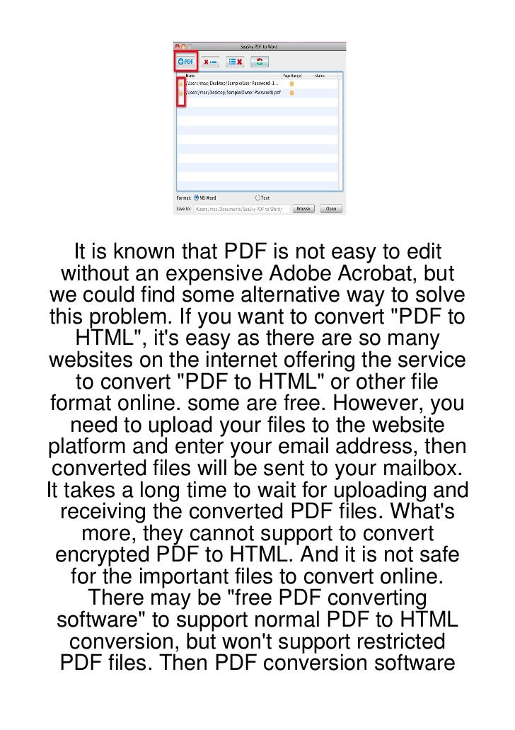 It is known that PDF is not easy to edit  without an expensive Adobe Acrobat, but we could find some alternative way to so...