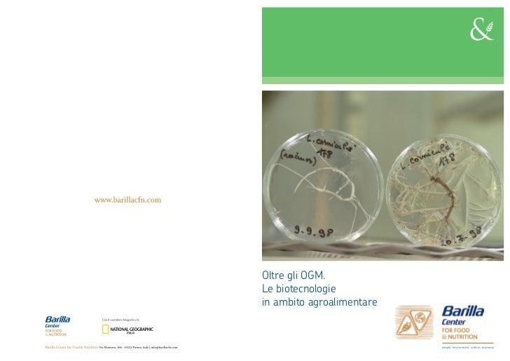 Position Paper: Le biotecnologie oltre gli OGM