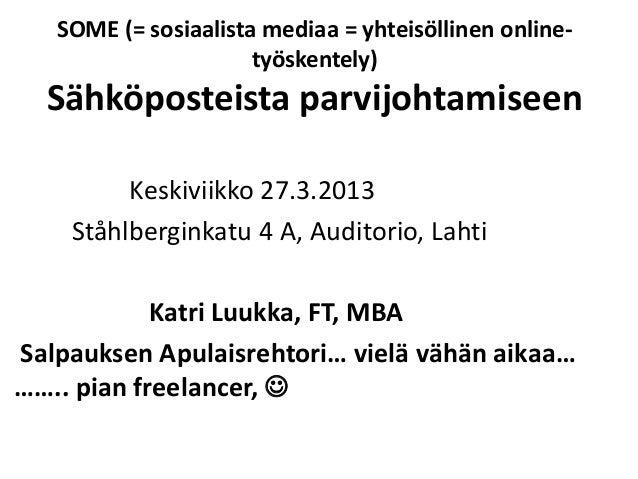 ITC- koulutuspäivä Lahti 270313