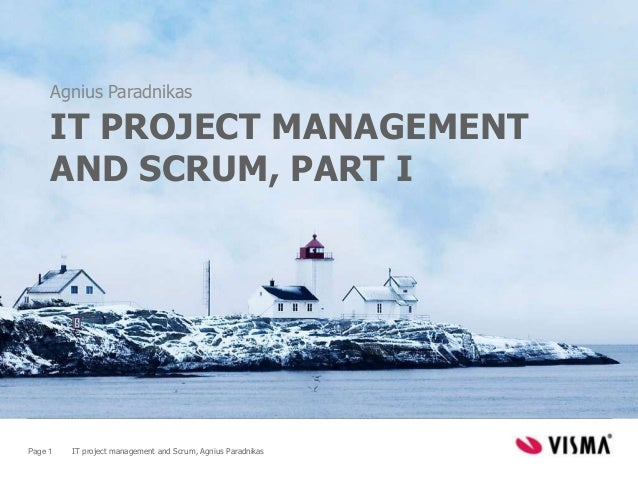 IT Project Management and Scrum, part I