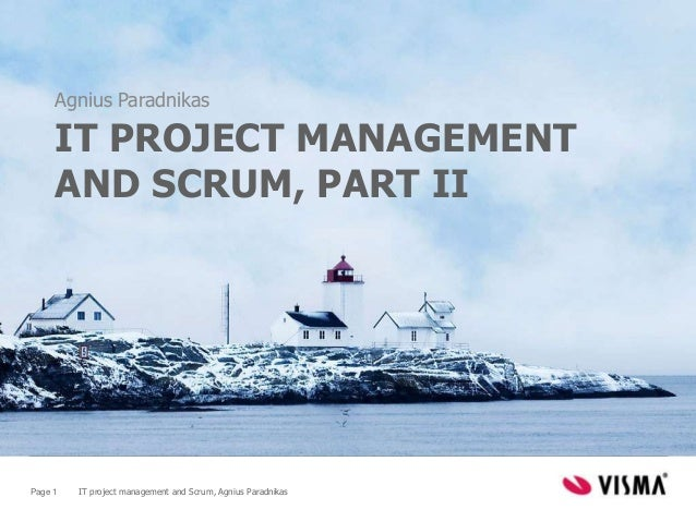 IT Project Management and Scrum, part II