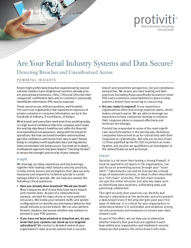 Are Your Retail Industry Systems and Data Secure?