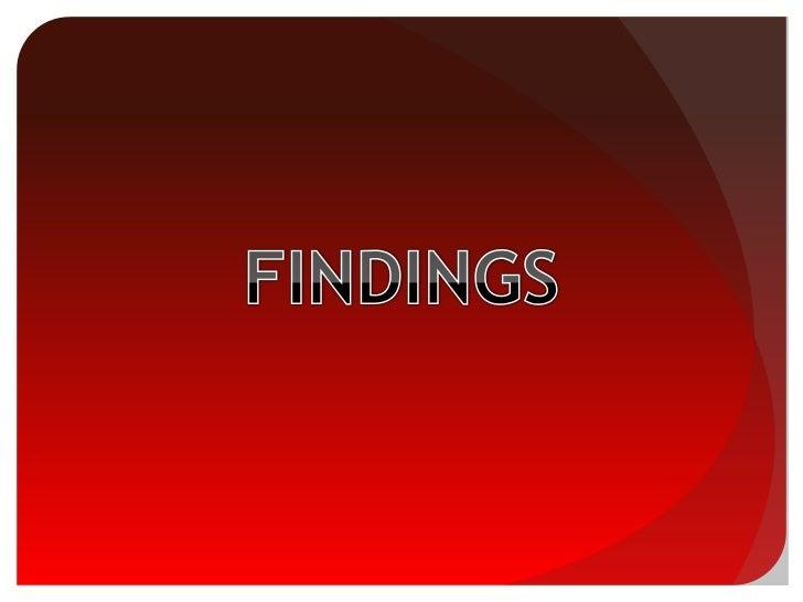 FINDINGS<br />