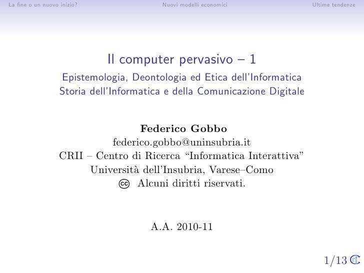 18 Il computer pervasivo -- 1