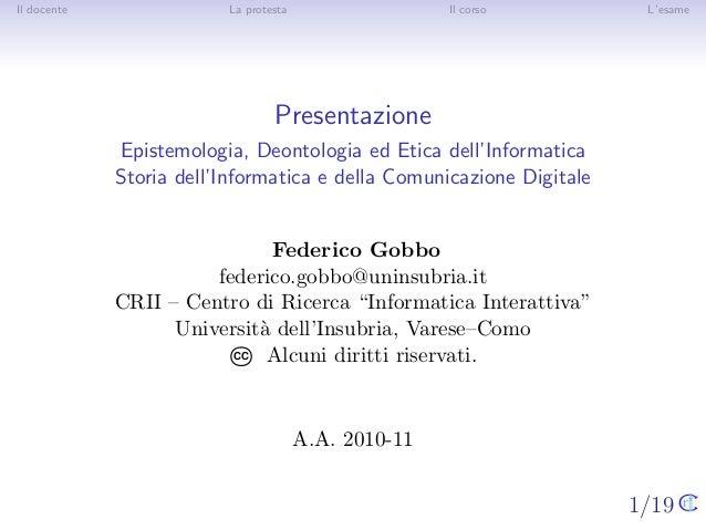 00 Presentazione corso di Epistemologia e Storia dell\'Informatica