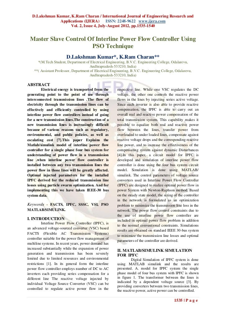 D.Lakshman Kumar, K.Ram Charan / International Journal of Engineering Research and               Applications (IJERA) ISSN...