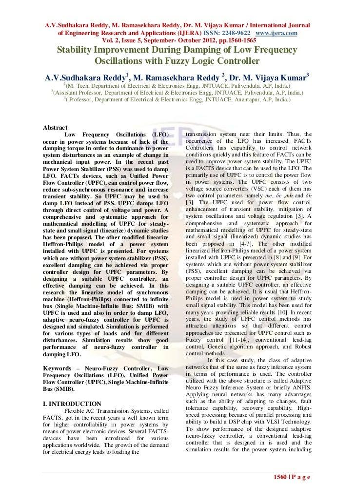 A.V.Sudhakara Reddy, M. Ramasekhara Reddy, Dr. M. Vijaya Kumar / International Journal    of Engineering Research and Appl...