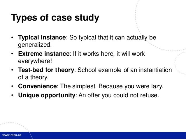 Typical case study