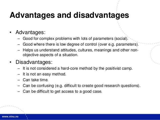 What are the advantages and disadvantages of using a case control study