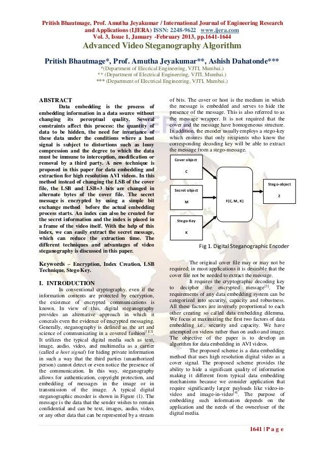 Pritish Bhautmage, Prof. Amutha Jeyakumar / International Journal of Engineering Research                and Applications ...