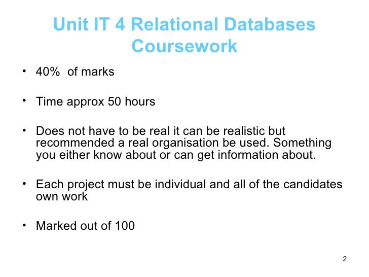 As ict database coursework