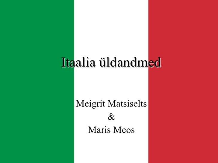 Itaalia üldandmed