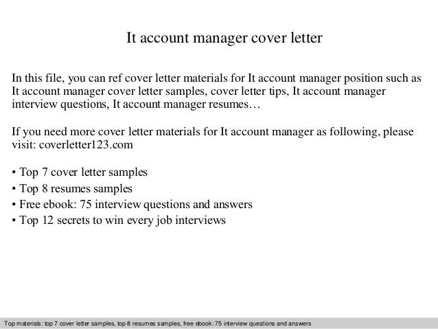 cover letter for customer service account manager
