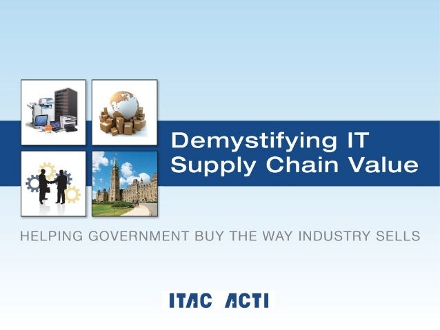 • To highlight the value of the supply chain • To identify its vital role in selling, delivering and integrating innovat...