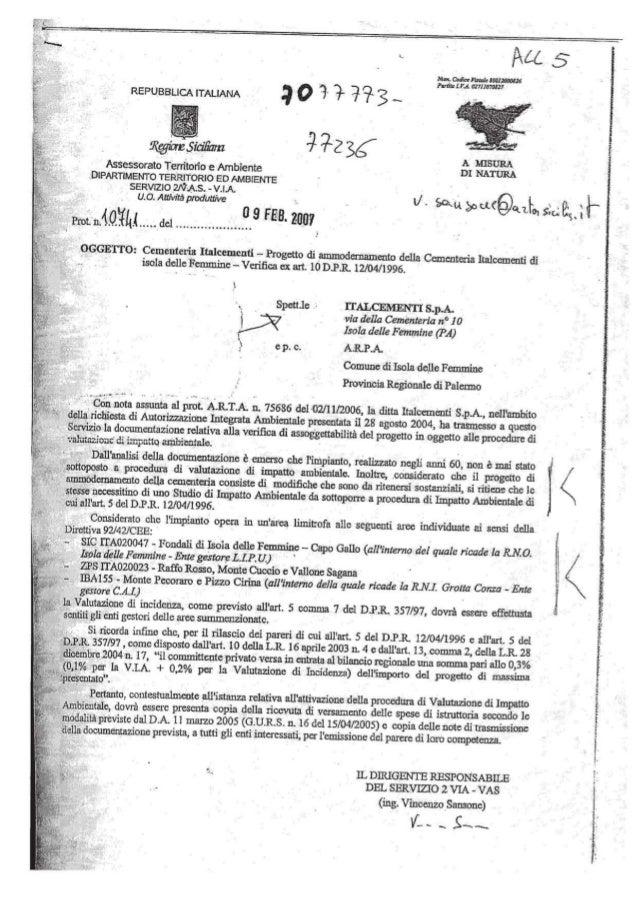 Italcementi conferenze dei servizi per concessione a.i.a., dec 693 18 luglio 2013 conf. serv. italcementi