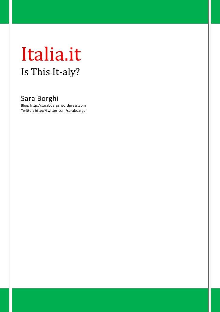 Italia.It - Is This Ita-ly?