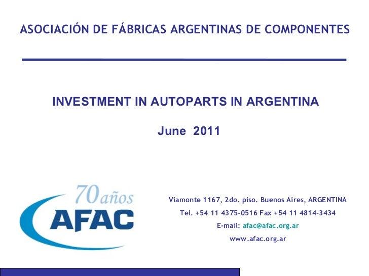 Italia - Presentación AFAC Autopartes
