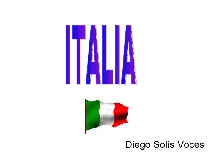 Diego Solís Voces ITALIA