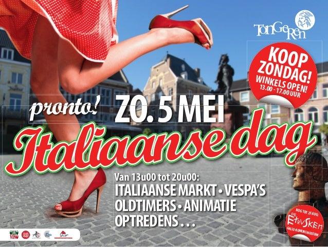 Italiaanse Dag  - Gemeente Tongeren Belgie - Zondag 05 Mei 2013
