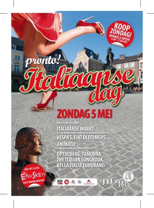 Italiaanse Dag Tongeren - 5 mei 2013 - folder