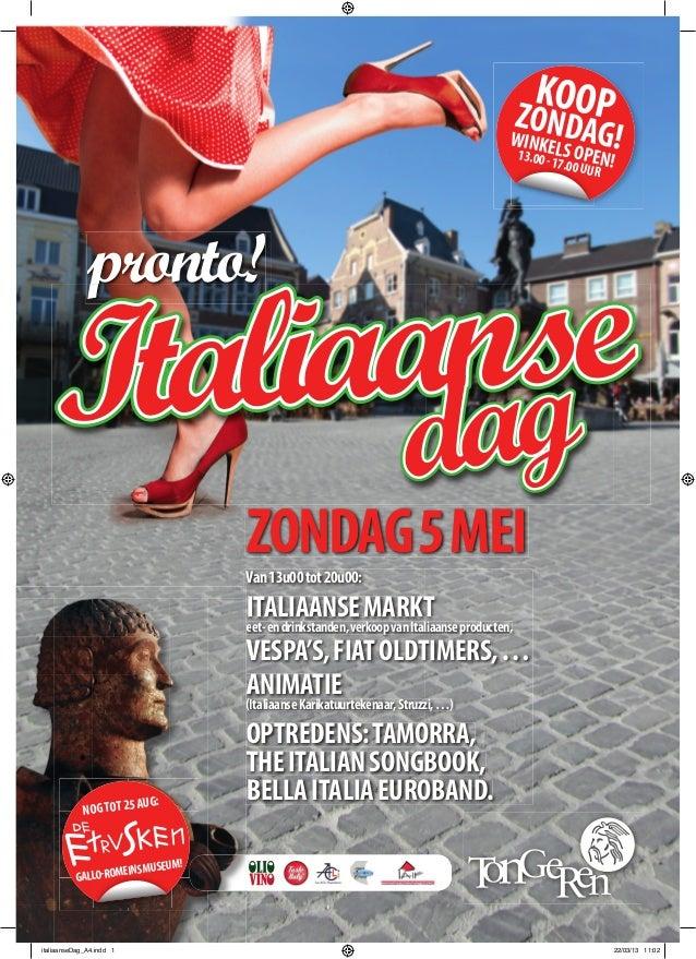 Italiaanse Dag Tongeren -  5 mei 2013 - poster