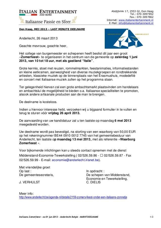 Italiaans Zomerfeest  - Zaterdag 01 jun 2013 - Anderlecht Belgie - Marktdeelname