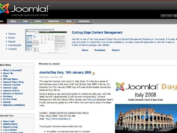 Italian Joomla!Day 19 January 2008
