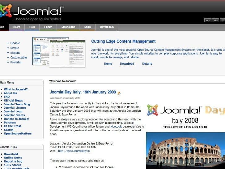 Italian Joomla!Day 19 January 2008