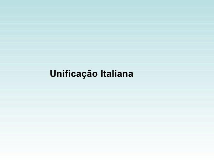 Unificação Italiana