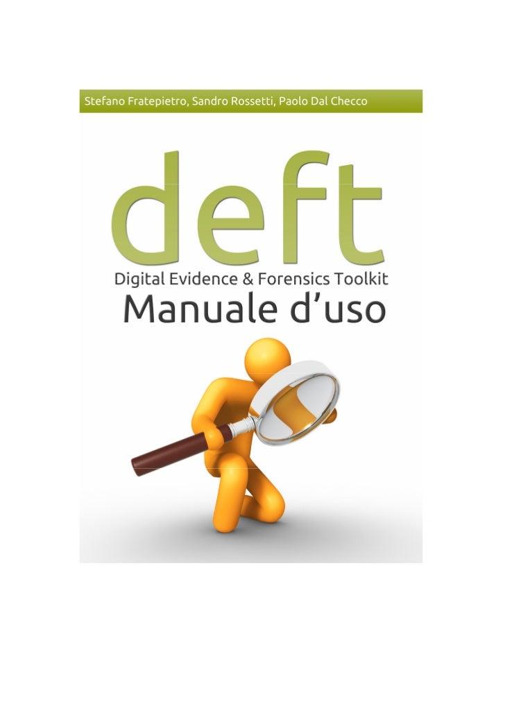 """1    Manuale DEFT 7                                           Gli autori    Stefano """"youngSTEr"""" Fratepietro    Si laurea n..."""