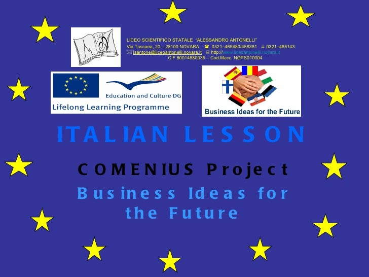 The first lesson of basic Italian prepared by local students.