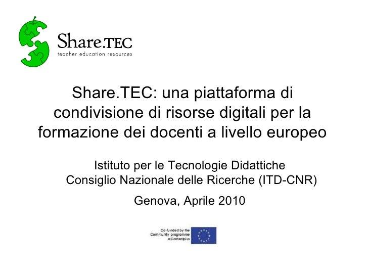 Share.TEC presentation in Italian, ITD