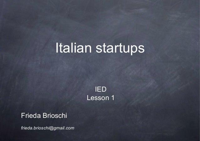 Italian startups