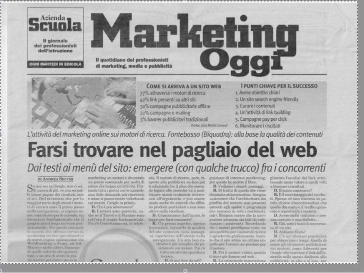 Intervista Marco Fontebasso Italia Oggi