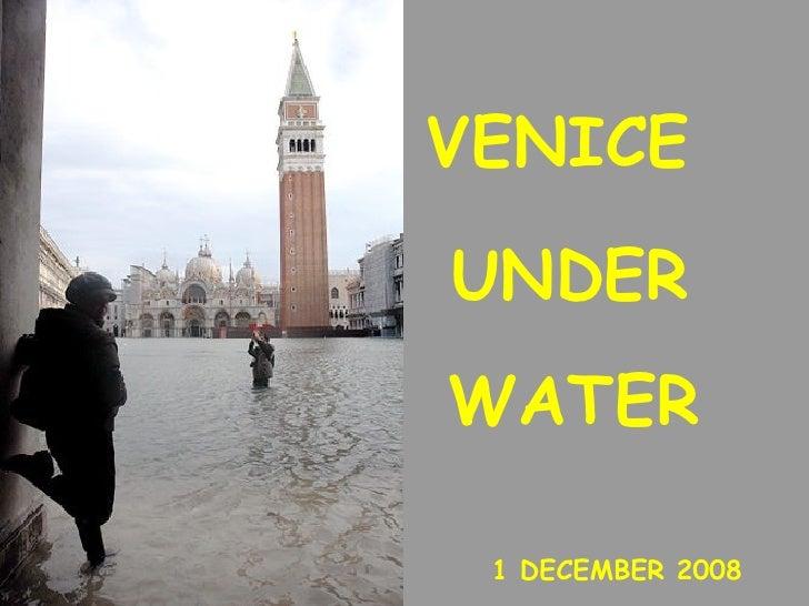Italia Venecia Bajo El Agua 01 Dic2008