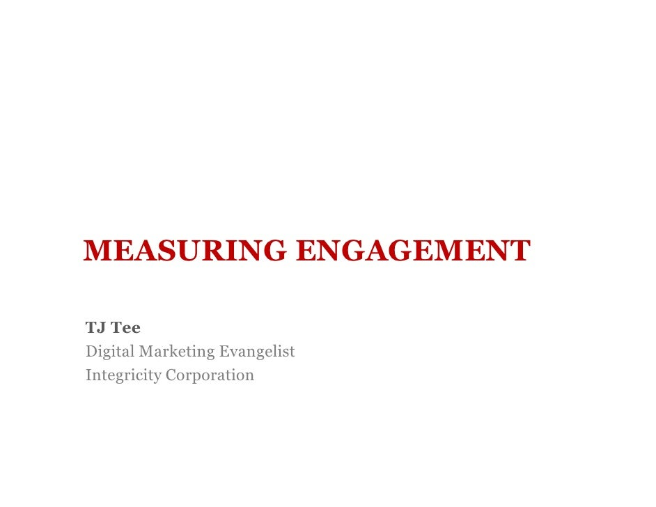 Measuring Engagement