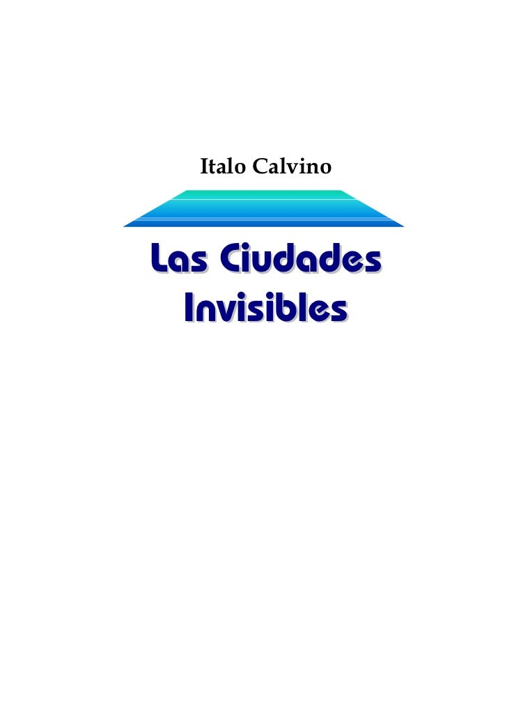 Italo CalvinoLas Ciudades  Invisibles