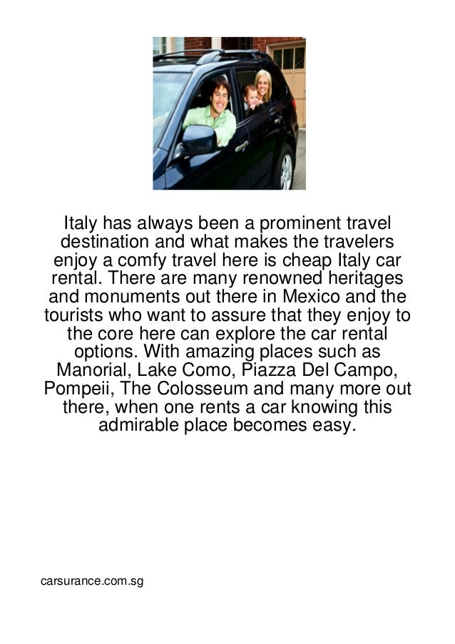 Italy has always been a prominent travel   destination and what makes the travelers  enjoy a comfy travel here is cheap It...