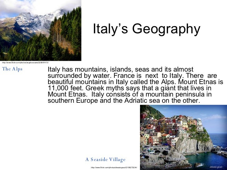 Italy Geography Powerpoint images
