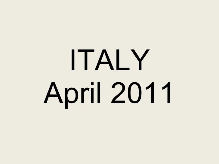 ITALY April 2011