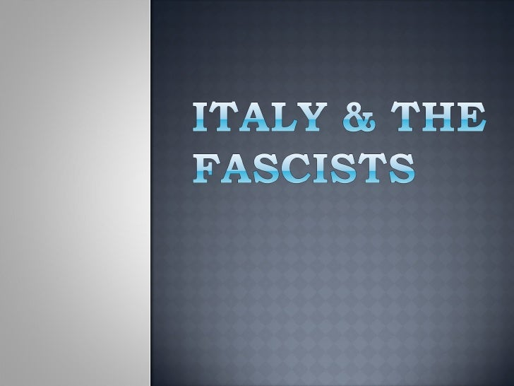 Italy and fascism[1]