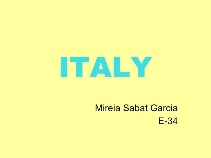 Italy by Mireia