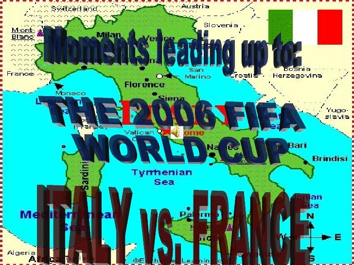 Moments leading up to: THE 2006 FIFA  WORLD CUP ITALY vs. FRANCE