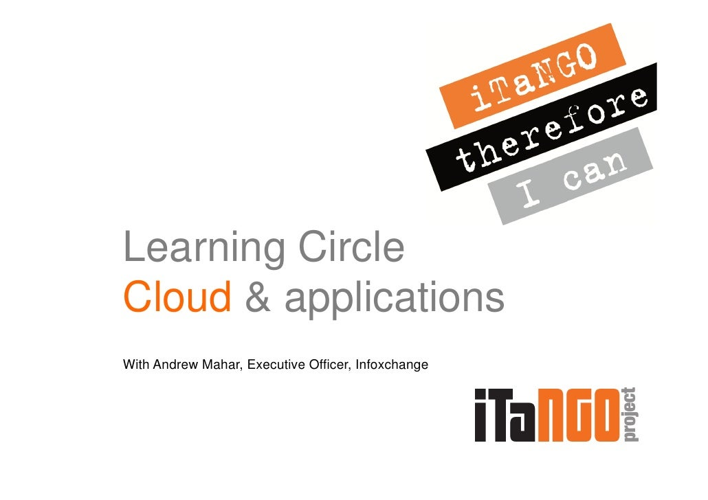 Learning CircleCloud & applicationsWith Andrew Mahar, Executive Officer, Infoxchange