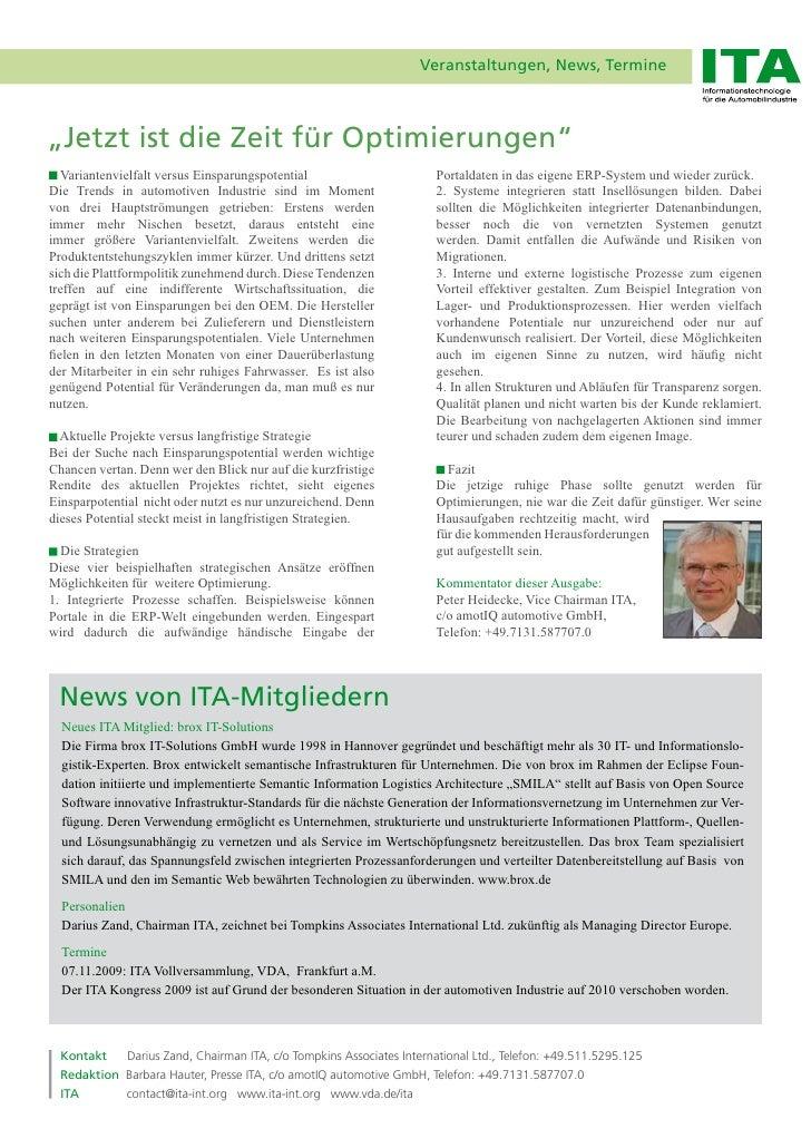 """Veranstaltungen, News, Termine    """"Jetzt ist die Zeit für Optimierungen""""    Variantenvielfalt versus Einsparungspotential ..."""