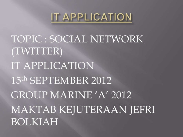 It application social network twitter