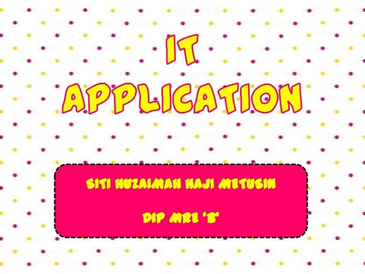 IT App presentation